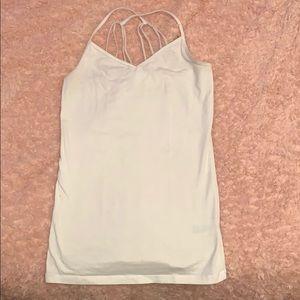 White v neck tank top
